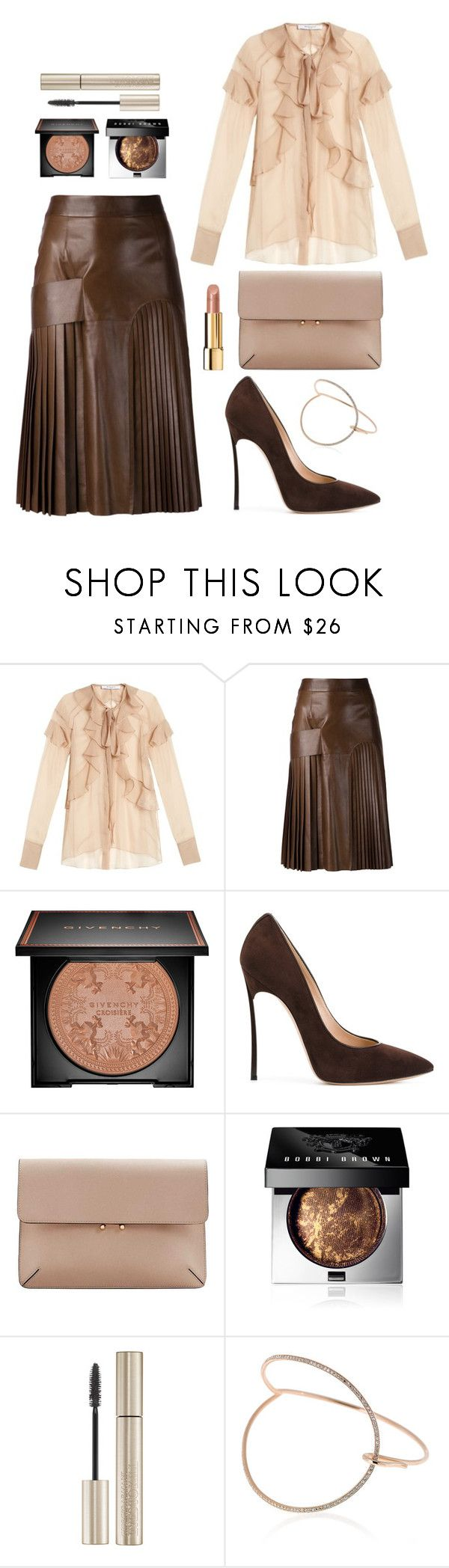 """""""Givenchy"""" by petra0710 ❤ liked on Polyvore featuring Givenchy, Casadei, MANGO, Bobbi Brown Cosmetics, Giorgio Armani, Selim Mouzannar and Chanel"""