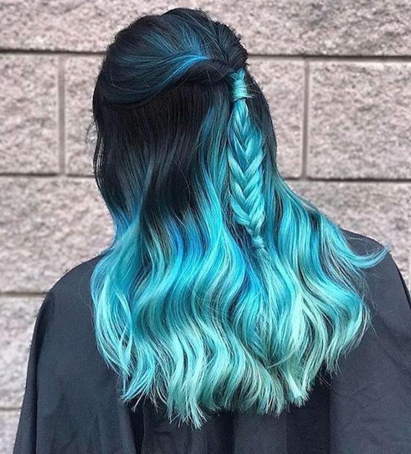 Blaue Haar-Ideen – Elisa