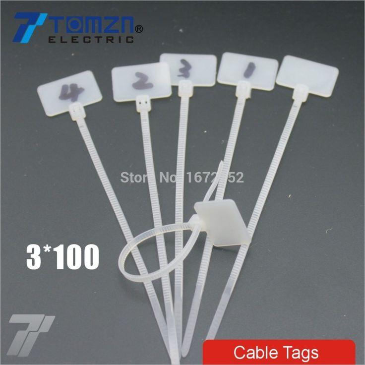 Дешевое 100 шт. 3 мм * 100 мм нейлон кабельные стяжки теги для на Ethernet RJ45 RJ 12 провод кабель питания этикетки мак, Купить Качество Кабельные стяжки непосредственно из китайских фирмах-поставщиках:                 Пожалуйста, отметил Эта ссылка только для 3*100 нейлон кабель теги                Изготовлен