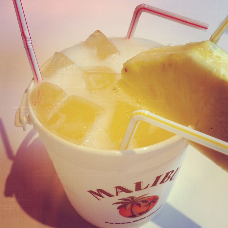 Try the Malibu Skinny Dipper: 1 part Malibu Red, 3 parts Malibu Peach Sparkler, 1 part pineapple juice, 2 parts orange juice - all parts delicious!