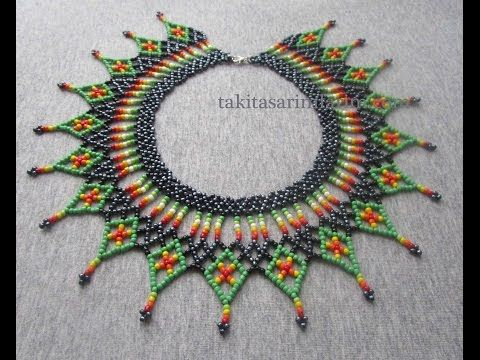 """Колье из бисера """"Осеннее"""". Бисероплетение. Мастер класс / Necklaces of beads. Beading - YouTube"""
