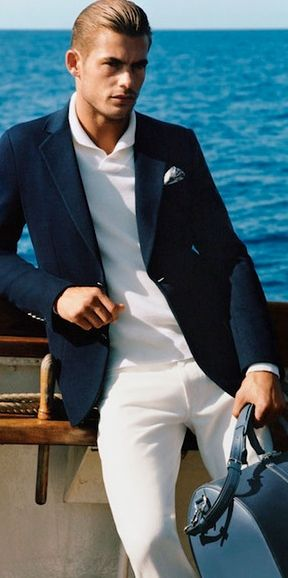 Nautical Style | Men's Fashion | Menswear | Men's Outfit for Spring/Summer | Sharp and Elegant | Moda Masculina | Shop at designerclothingfans.com