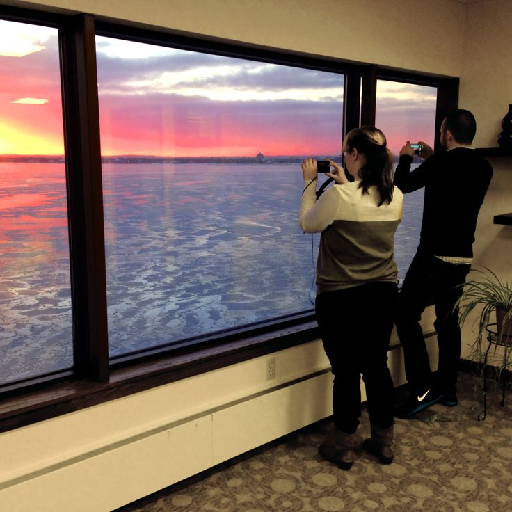 Nothing quite like an amazing #sunrise to wake you up on a cold #winter Tuesday! #tcmi #office
