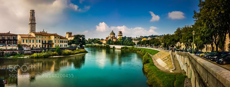 Popular on 500px : North Italy: Verona  The River Adige (dt. Etsch)  Idyll in Town by SwissFiveNine