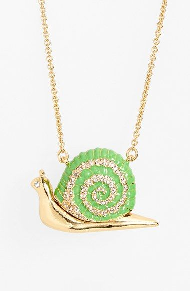 kate+spade+new+york+'lawn+party'+long+snail+pendant+necklace+available+at+#Nordstrom