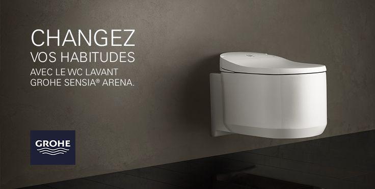 Aller aux #toilettes pourrait bien devenir une vraie partie de plaisir... et vous allez vite le réaliser avec le #Sensia #Arena ! Entre #design et #innovation, ce #WC #lavant - signé @grohe - bouleversera à jamais vos habitudes, et vous ne vous en sentirez que mieux !  Découvrez-en davantage sur ce concentré de pure technologie.