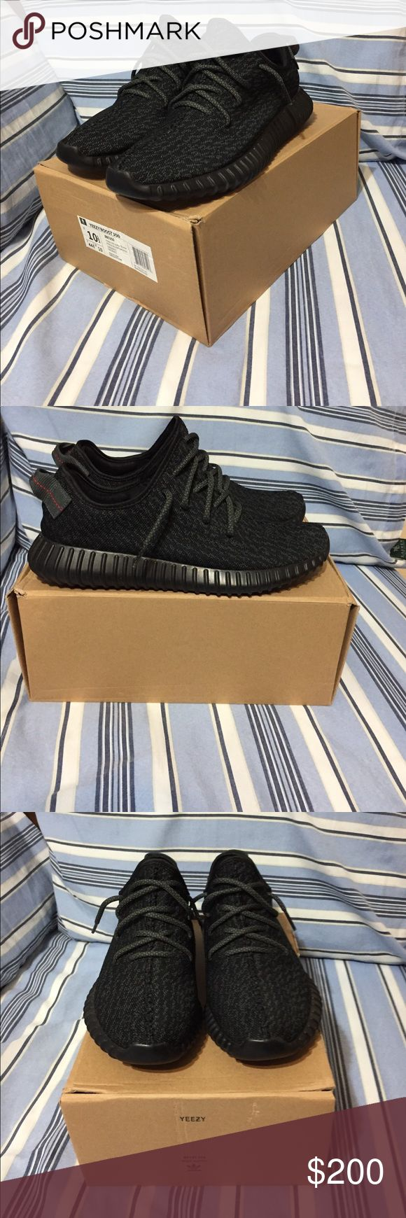 Adidas Yeezy 350 Boost pirate black size 10.5 UA OFFERS ARE WELCOME Yeezy Shoes Sneakers