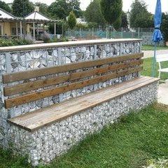 gabion garden seat.