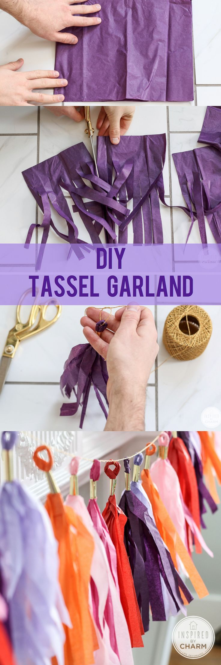 DIY tassel garland for a fun Graduation Party
