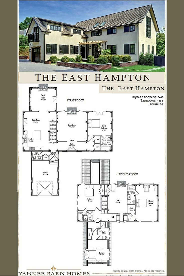 East hampton barn home floor plan friday pinterest for Barn house layouts