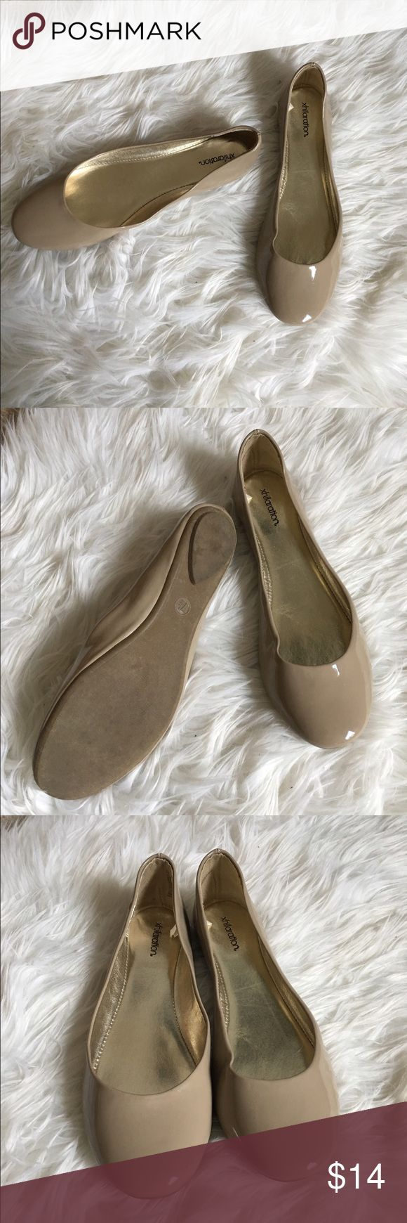 Nude Patent Leather Ballet Flats Nude Patent Leather Ballet Flats Shoes Flats & Loafers