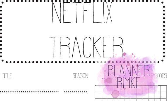 Netflix Tracker A5 - English Language