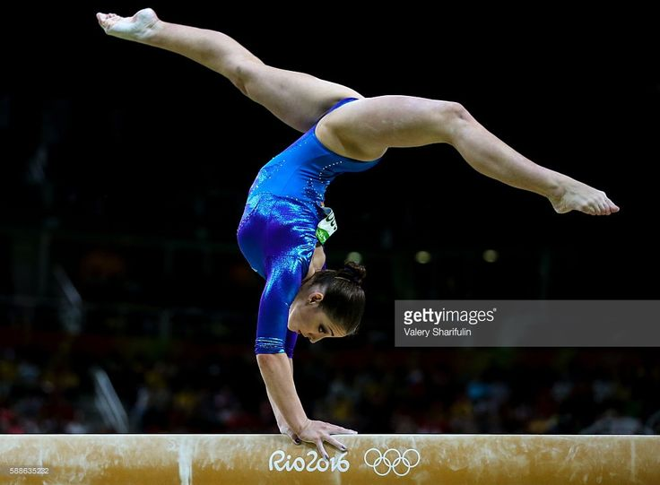 Russia's Aliya Mustafina performs her balance beam routine during the artistic gymnastics women's individual all-around final event at the 2016 Summer Olympic Games in Rio de Janeiro, Brazil, at Rio Olympic Arena. Valery Sharifulin/TASS