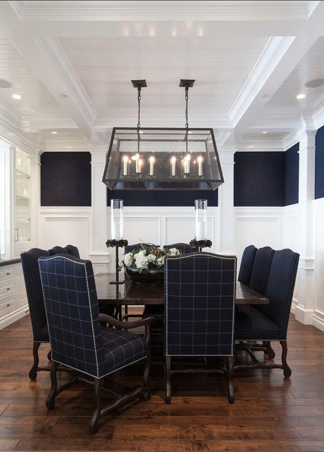 "Dining Room. Dining Room Decor. Dining Room Design Ideas. ""Benjamin Moore Simply White OC-117""."