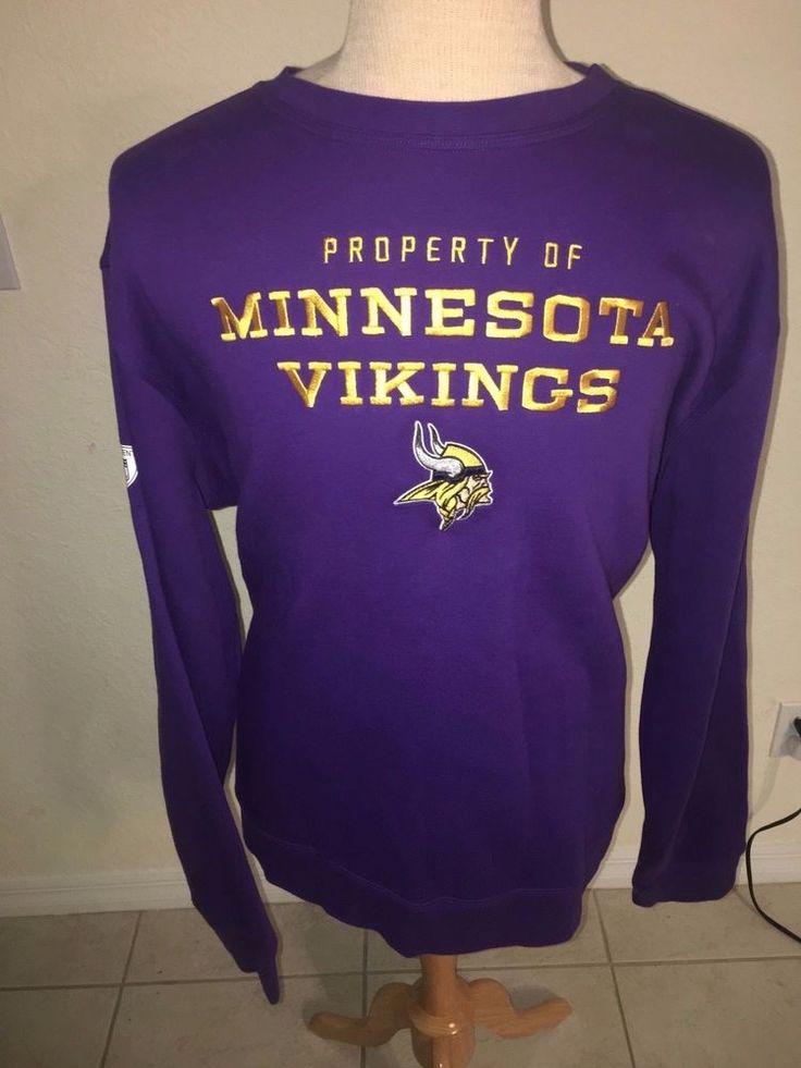 Minnesota Vikings Nike NFL Equipment Training Sweatshirt Mens 3XL Property of  #Nike #MinnesotaVikings