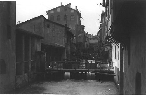 Bologna Città della Seta: Canale delle Moline - Foto Paolo Bettini (1884-1968)