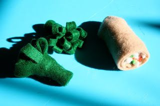 Pink and Green Mama: Home Made Felt Chinese Food- no sew broccoli