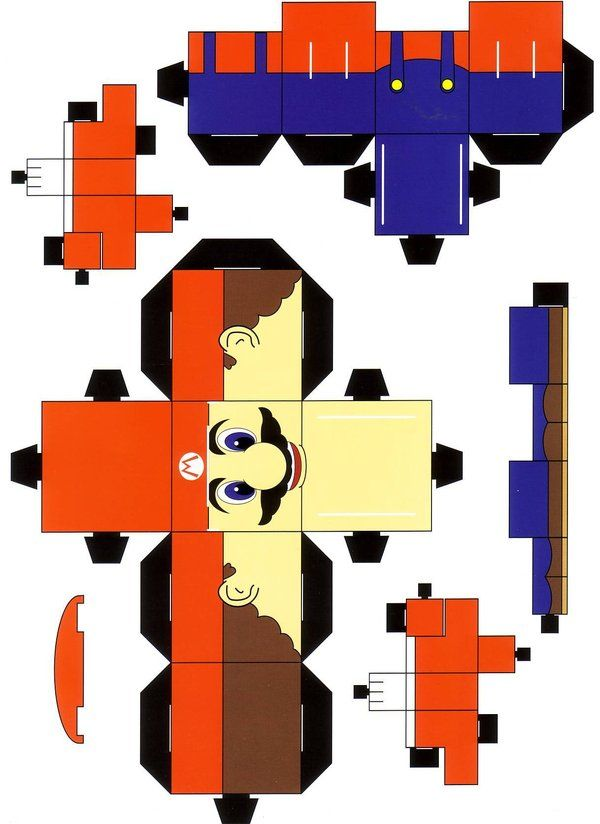 Super Mario Cubee by ~paperart on deviantART