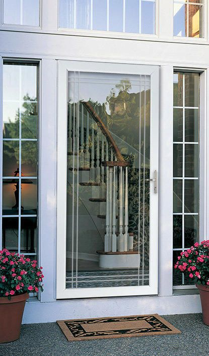 Storm door double bevel glass classic full view larson for Double storm doors