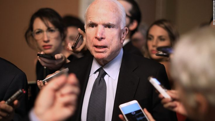 Sen. John McCain slammed President Donald Trump on Saturday for saying he believes Russian President Vladimir Putin over senior US intelligence officials when he says his country didn't  interfere in the 2016 election. 11.11.17