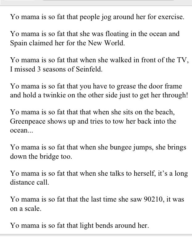 9 Best Yo Mama Jokes Images On Pinterest