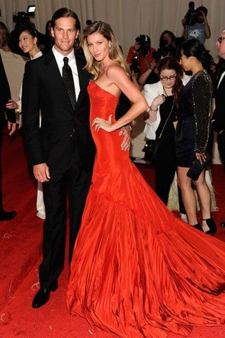Giesel Bundchen and Tom Brady at the Met Ball, 2011 - amazing!