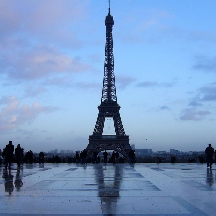 blue sky in Paris