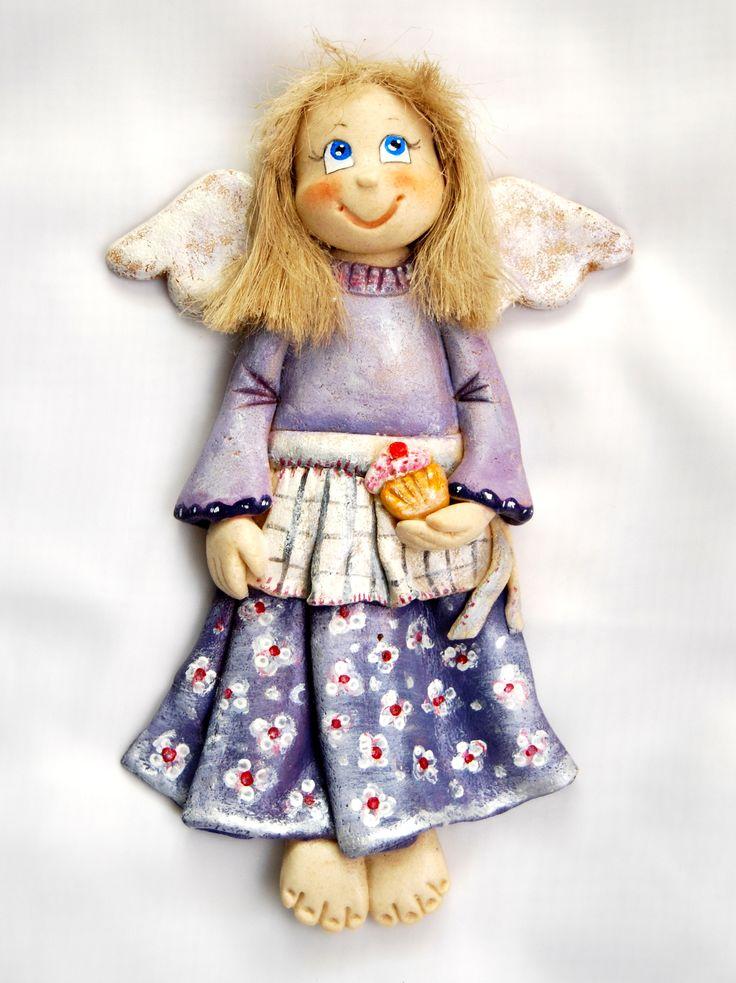 anioł z masy solnej, salt dough angel