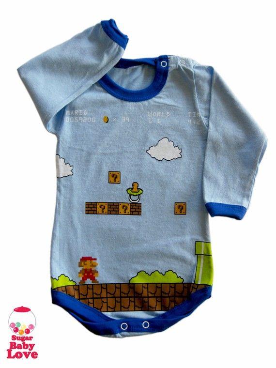 Another Nintendo/Mario inspired baby onesie.