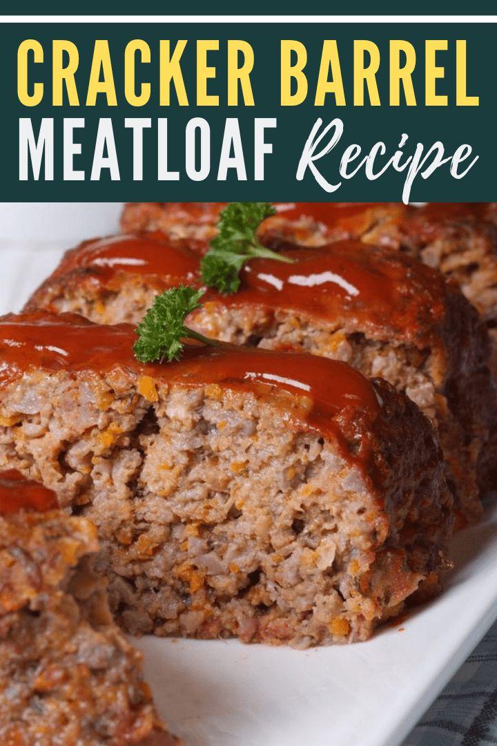 (Secret Recipe) - Cracker Barrel Meatloaf | Recipe in 2020 ...