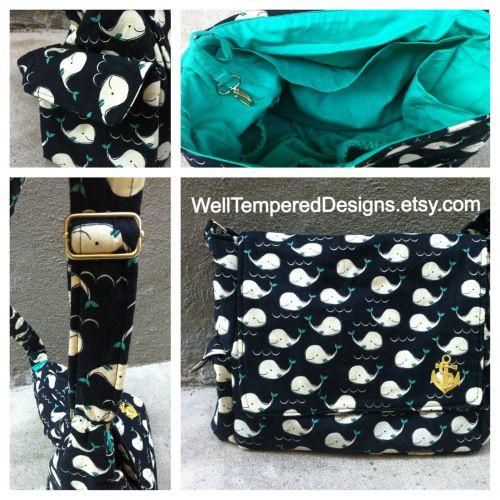 Custom Whale Diaper Bag