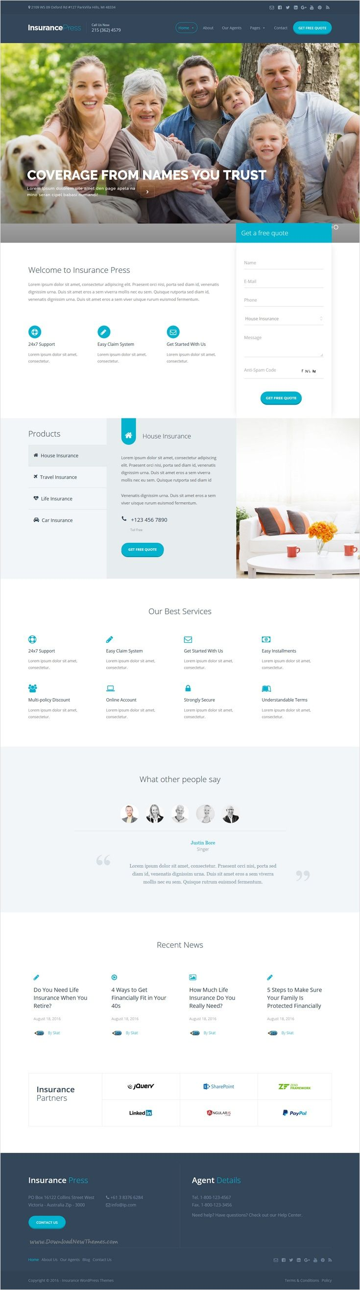 Insurance Press is a powerful Easy to Use, Highly Customizable Premium #WordPress theme for #webdev #Insurance Agency website download now➩ https://themeforest.net/item/insurance-press-insurance-agency-wordpress-theme/17683731?ref=Datasata