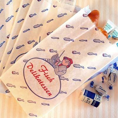 マルシェ袋 ドイツ 海外市場の紙袋(フィッシュ)5枚セット - 生活・輸入雑貨『Zakka MiniMini』 フランス雑貨など海外のかわいい雑貨・ガーリー雑貨・蚤の市雑貨・ハンドメイド雑貨・コレクタブル・アンティークのお店