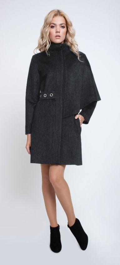 Mayfair Grey Asymmetrical Coat by Rumour London on LUX-FIX https://lux-fix.com