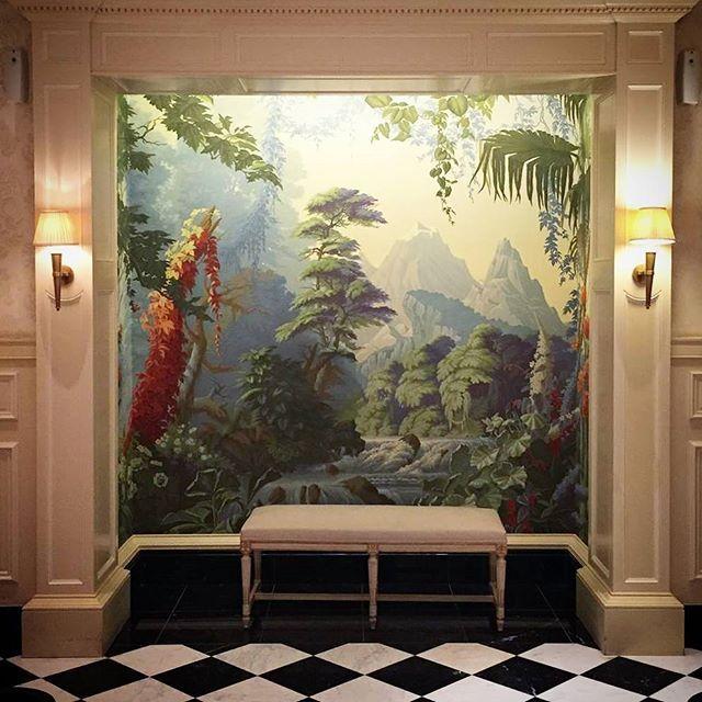 de Gournay's L'Eden design in the iconic Savoy Hotel in London