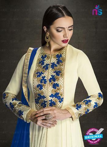 AZ 3908 Beige Faux Georgette Anarkali Suit