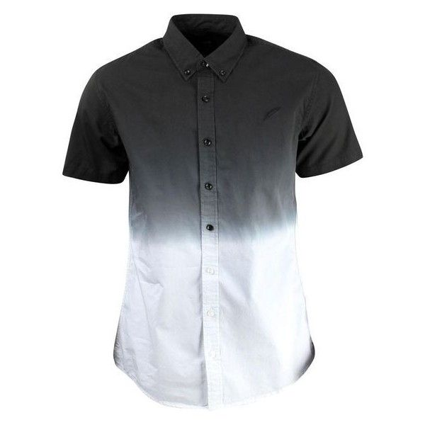 Publish Men Omer Button Up Short Sleeve Shirt black ❤ liked on Polyvore…