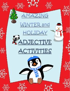 winter holiday and christmas adjectives worksheets and adjectives activities adjectives. Black Bedroom Furniture Sets. Home Design Ideas