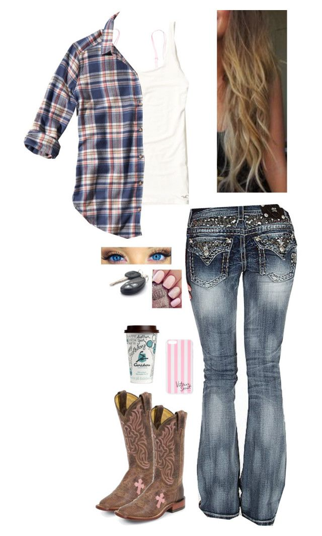 """""""Untitled #1117"""" by raygenbrand ❤ liked on Polyvore featuring Victoria's Secret PINK, Victoria's Secret, Hollister Co. and Miss Me"""