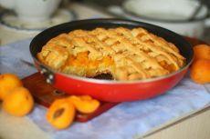 Творожно абрикосовый пирог