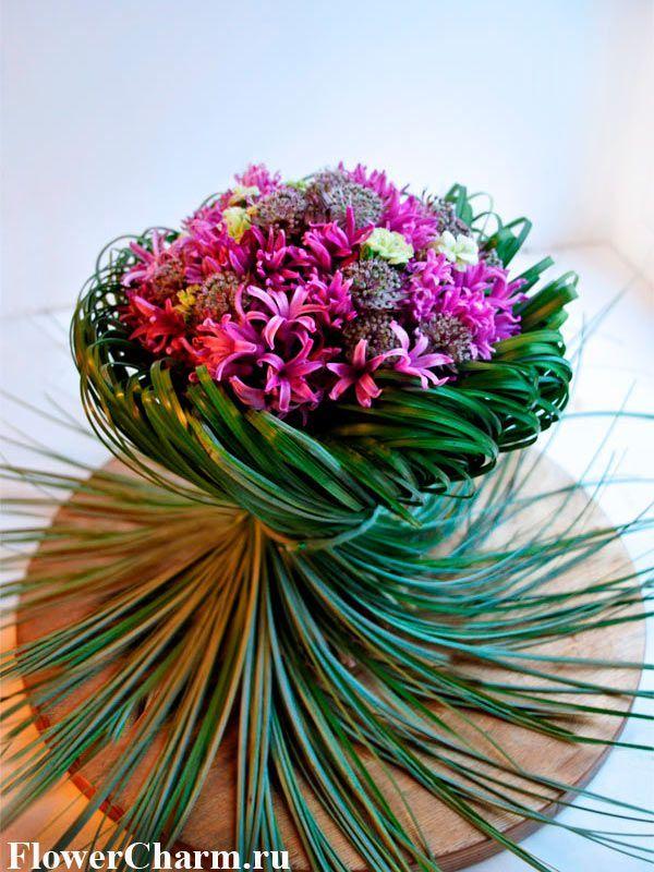 Букеты из цветов креатив, цветов