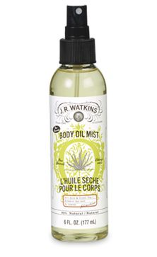 "Aloe & Green Tea Body Oil Mist Watkins Natural Products  Want to place an order ... go to www.jrwatkins.com Click top right corner ""Sign In/Create Account"" Click ""Create a Watkins Customer Account"" Fill out the form and on the right hand side click ""I shop with a J.R. Watkins Consultant"". Enter 645274 in ""My Consultant Number"" Sign up at www.respectedhomebusiness.com/645274"