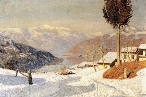 Snow at Besano, Oreste Albertini - #Art #LoveArt http://wp.me/p6qjkV-90G