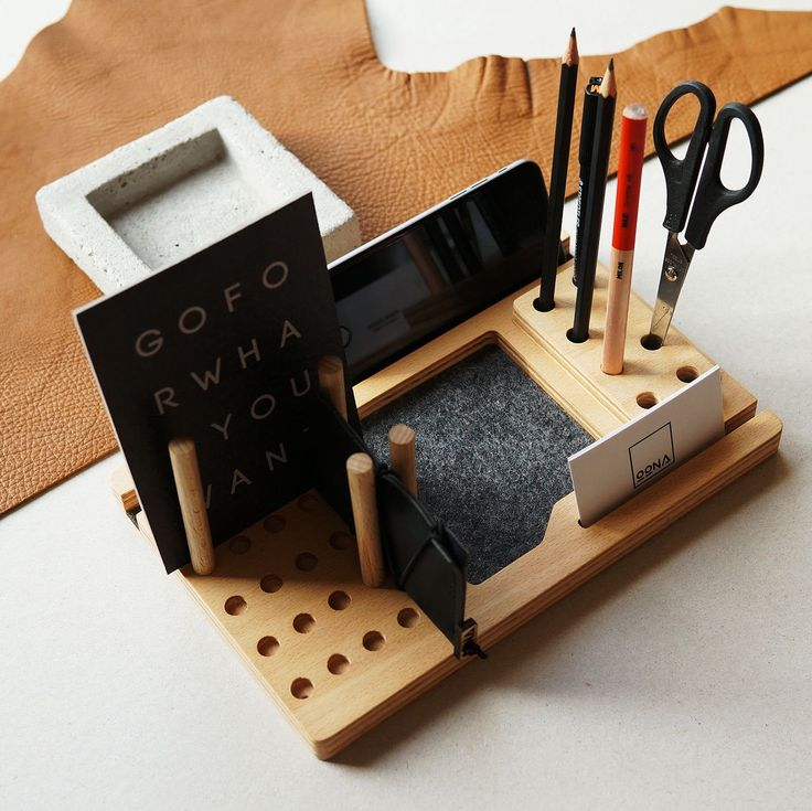 Our functional & compact OONA desk organizer