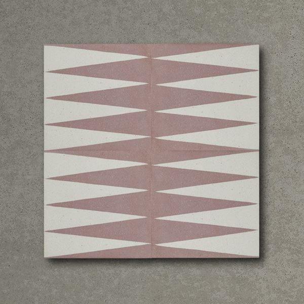 Pink Gammon Handmade Encaustic Cement Floor Tile   Otto Tiles & Design   Encaustic, Moroccan and ...