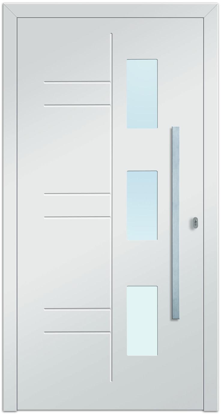 Sternstunden Eingangstüre PLUTO 1 - Aluminiumtüre außen weiß. Besuchen Sie unseren Schauraum in Gramastetten - dort haben wir einige unserer Haustürmodelle ausgestellt. #Fensterschmidinger #doors #türen #alu #gramastetten #oberösterreich