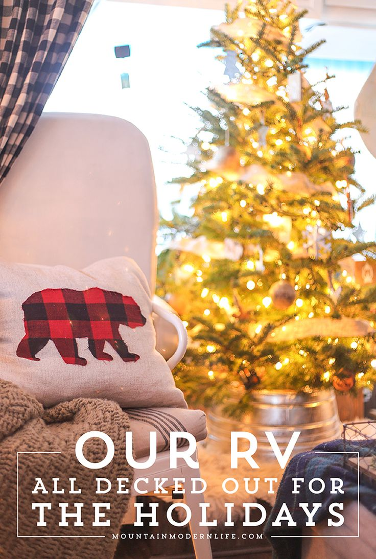 Camping christmas tree ornaments - Rv Christmas Home Tour Come See How We Decorated Our Tiny Home On Wheels For The Holidays