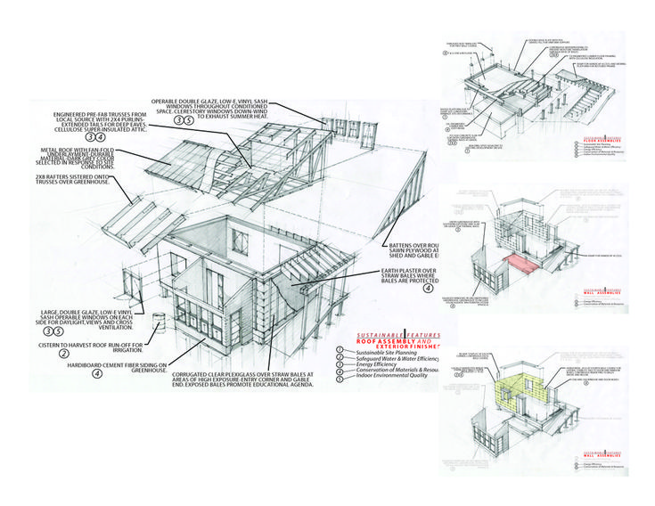 Straw Bale Eco Center / Students of Ball State University Department of Architecture
