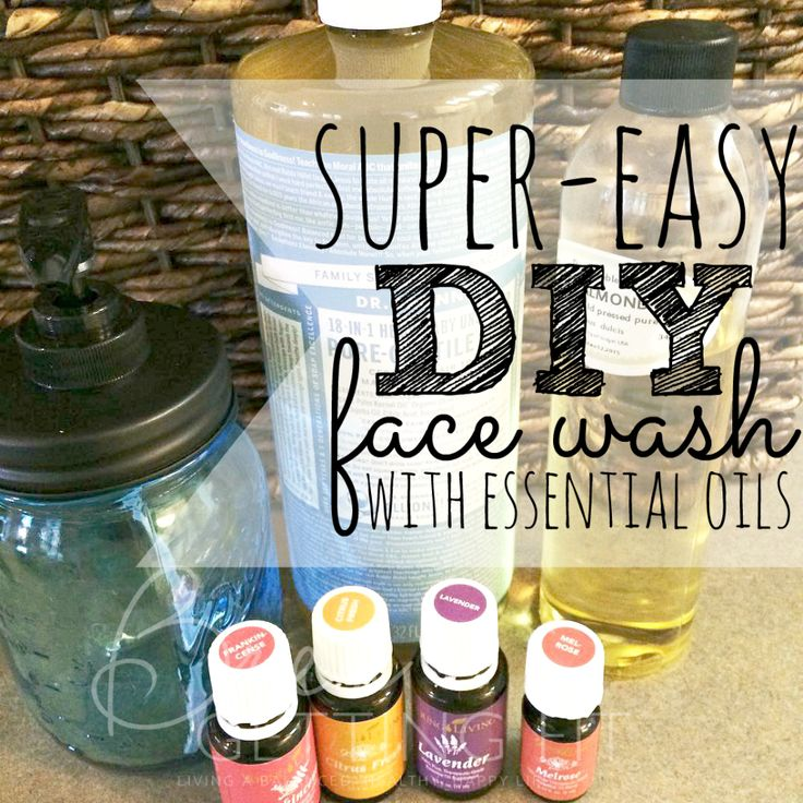 Super Easy DIY Face Wash With Essential Oils | Tired of breakouts? Try this super easy diy face wash with essential oils!