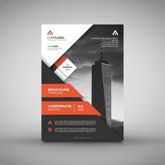Корпоративный оранжевый дизайн брошюры